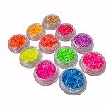 Neon Glitter 11 delig