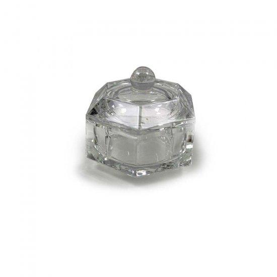 Dappen Dish Glas Zeskant met Deksel